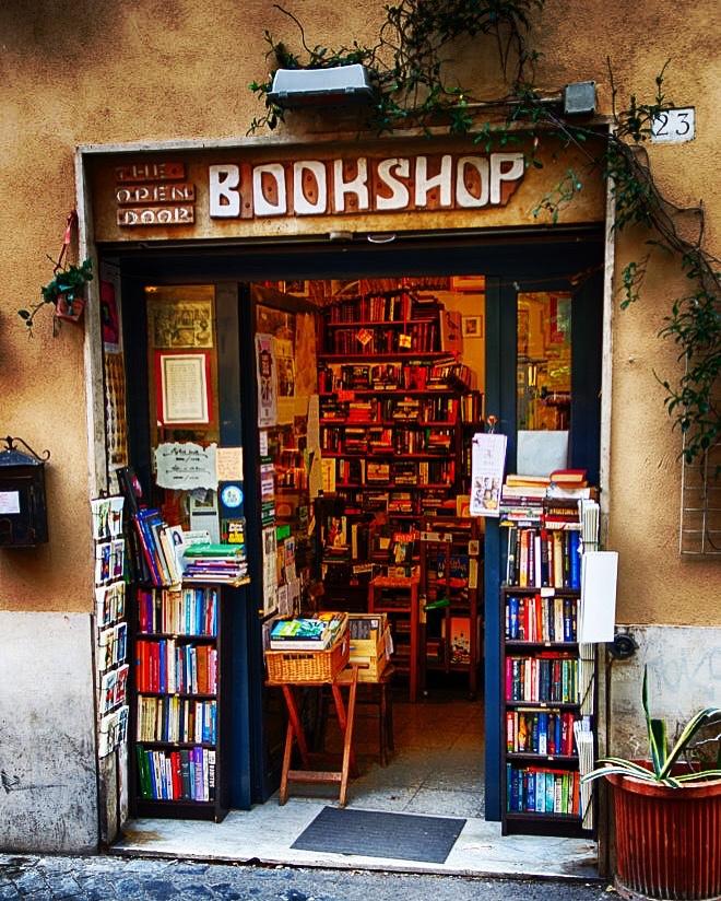 Book shop  Rome Italy