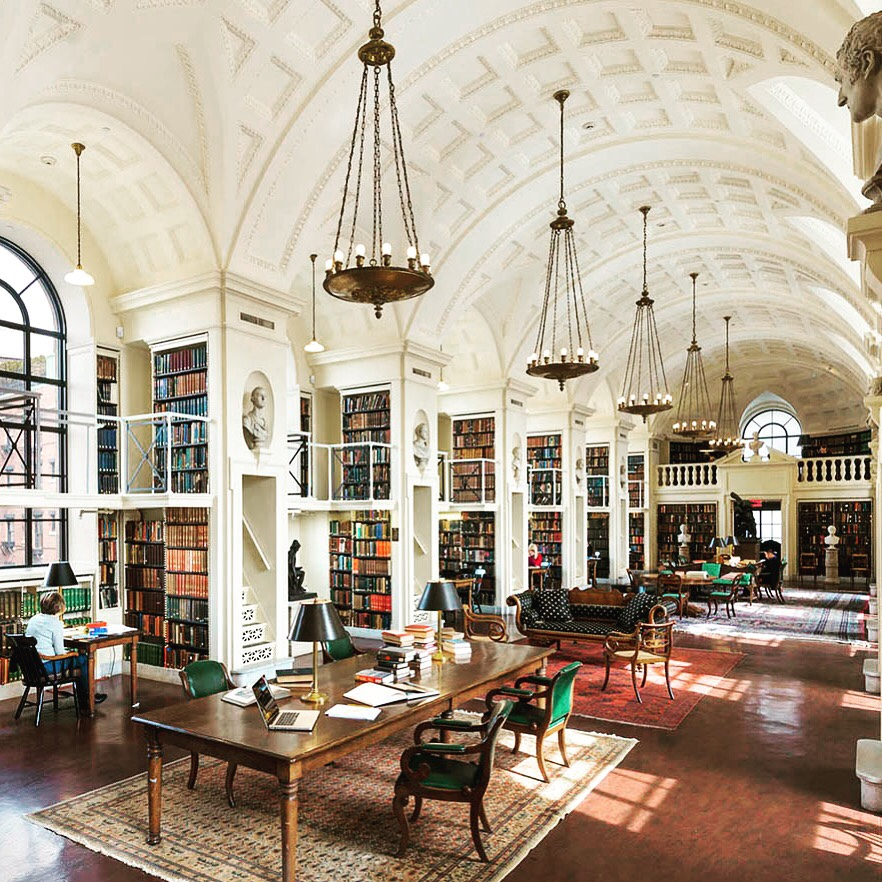 Boston library private reading room